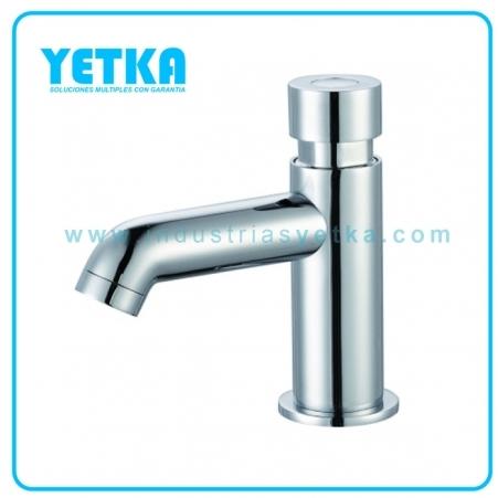 Yetka llave temporizada para lavamanos para agua fr a for Llaves para lavamanos sodimac