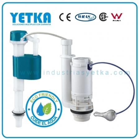 Yetka juego de herraje yetka premium dual flush balancin for Manija para sanitario