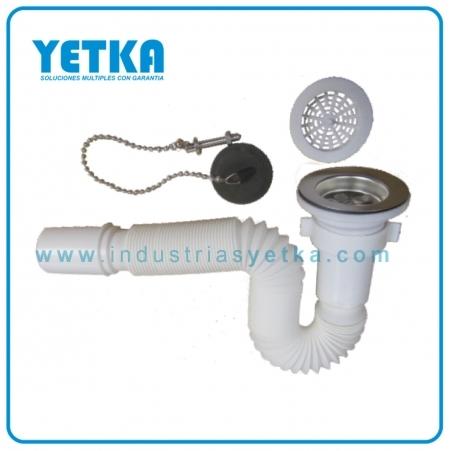 Yetka sif n flexible para lavamanos con desag e - Sifones para lavabos ...
