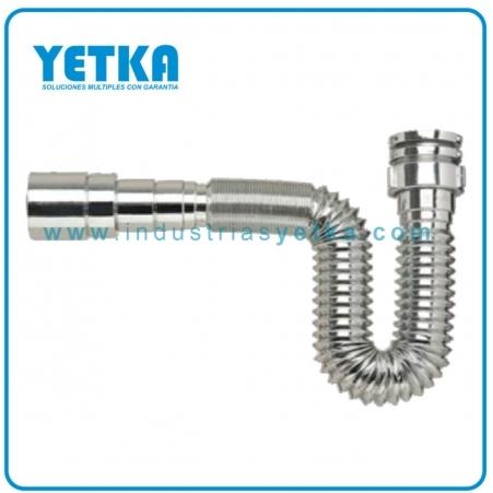 Yetka sif n flexible premium cromado industrias yetka - Sifones para lavabos ...